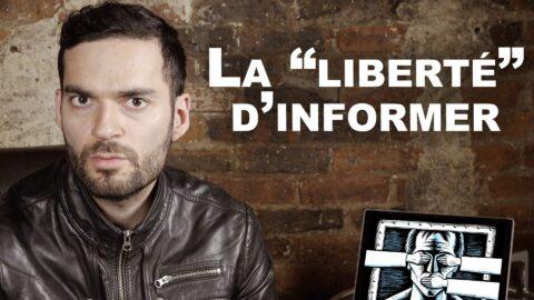 """La """"liberté"""" d'informer en danger"""