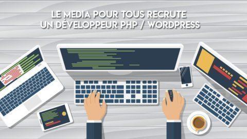 LeMédiaPourTous recrute un développeur PHP / WordPress
