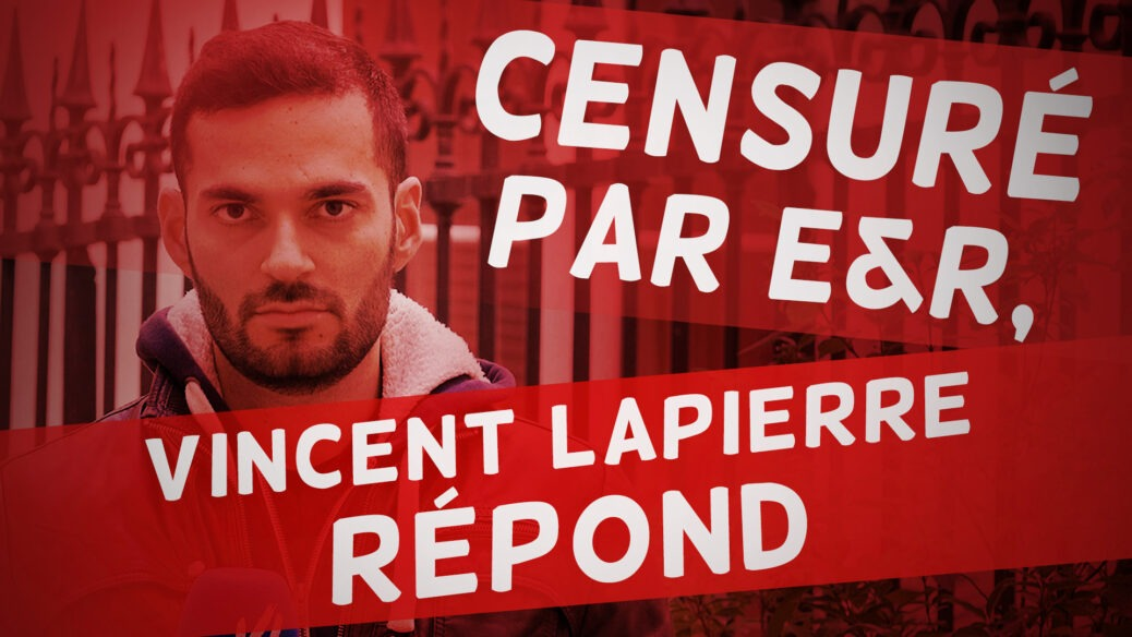 Censuré par ER Vincent Lapierre Répond