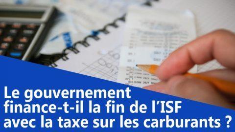 Le gouvernement finance-t-il la fin de l'ISF avec la taxe sur les carburants ?