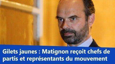 Gilets jaunes : Matignon reçoit chefs de partis et représentants du mouvement