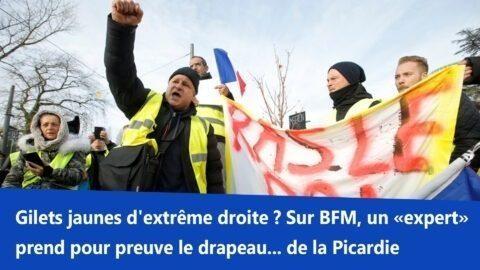 Gilets jaunes d'extrême droite ? Sur BFM, un «expert» prend pour preuve le drapeau… de la Picardie
