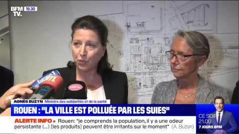 """36 heures plus tard : """"La ville de Rouen est clairement polluée"""" (Agnès Buzyn, ministre de la santé)"""