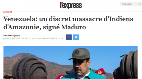 CHECK NEWS : Non, Maduro ne massacre pas les Indiens d'Amazonie (ENTRETIEN)