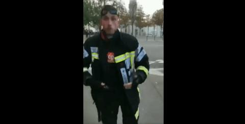 Un pompier se fait tirer dessus par la police, sa vidéo de réponse à Macron fait le buzz