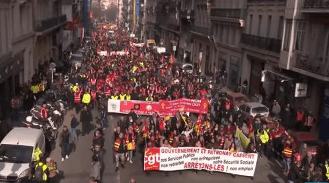 Réforme des retraites : encore une forte mobilisation pour cette neuvième journée de grève