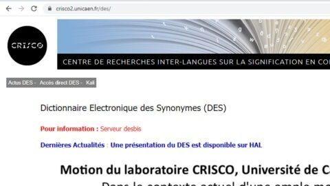 Le dictionnaire des synonymes CRISCO est lui aussi en grève !