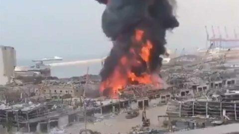 Un nouvel incendie s'est déclenché au port de Beyrouth au Liban